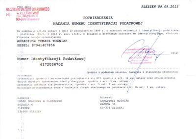 VAT number Woz-Trans